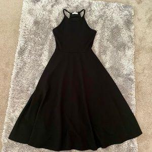 Olivia Rae Halter Top Fit + Flare Midi Dress